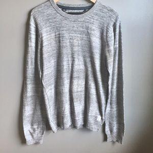 Buffalo David Bitton Gray Heathered Sweater Sz L